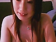 Chinese sweetheart stripping bare and playing with her jummy tits before she..