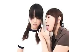 Timid Asian schoolgirl gets caressed and caressed by her insatiable t