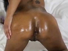 Fit Ebony Teen Rides Big White Dick!