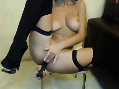 Nasty curvy bootie anal invasion intrusion with faux-cock