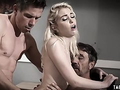Teen dp'd by her step-father and her uncle