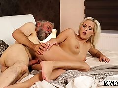 Dad partner's daughter-in-law agonizing assfucking and first-timer aged