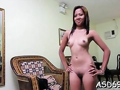 Thai whore favors a stud with penis inhaling and railing