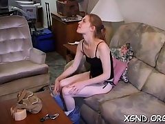 Bodacious bum teenie non-professional scenes of raunchy fuck-fest