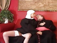 Old priest fuck a youthfull and splendid nun.