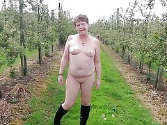 Saucy Naked Stroll Thru an Apple Orchard