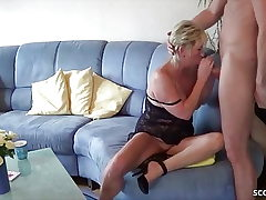 GERMAN MATURE tempt Youthfull Fellow NEIGHBOR to Tear up when alone