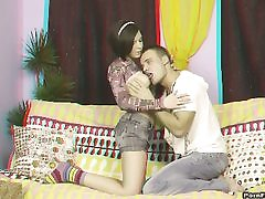 Lovemaking in front of TV