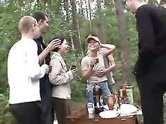 5 dudes and 2 teen damsels in the woods