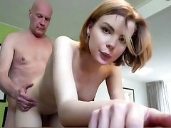 Youthfull babe gets screwed hard by old man