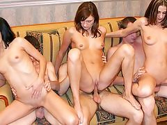 Nude dancing soiree completes up as a college fuck-a-thon