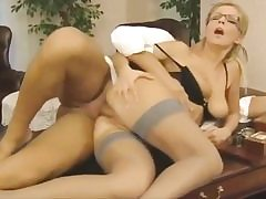 Naughty assistant gets her vag slot pounded on the office table